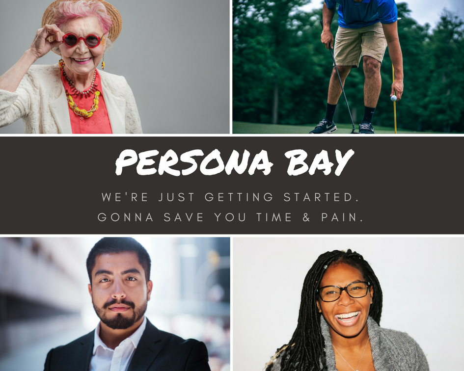 customer personas photo collage for persona bay