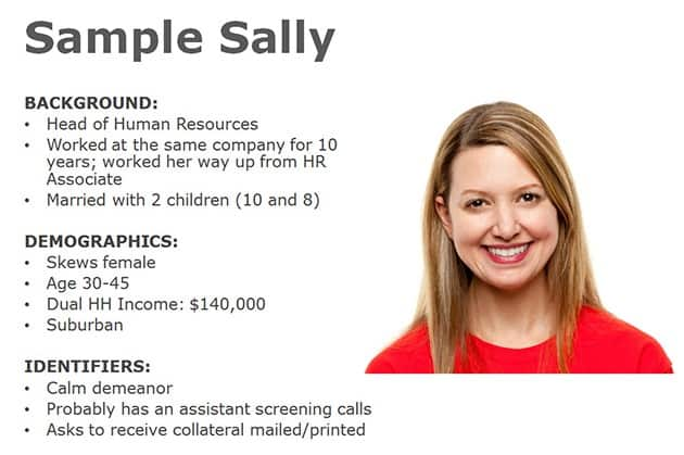 Sample Sally buyer persona