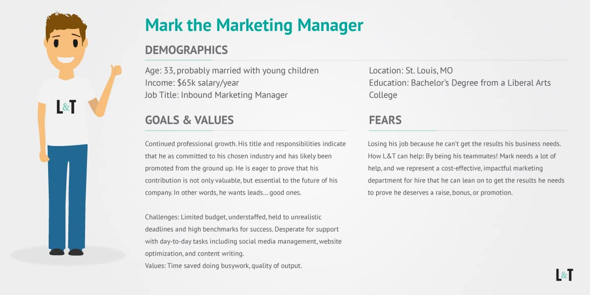 Marketing Manager Persona is overwhelmed and need leads!